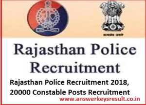 Rajasthan Police Recruitment 2018,