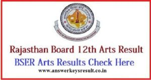 Rajasthan Board 12th Arts Exam Result 2018