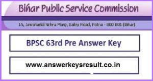 BPSC Pre 1st July Exam Answer Key 2018